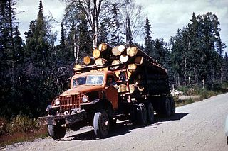 Look out for the logging trucks! Public Domain photograph.