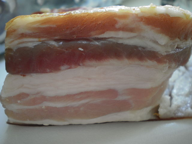 This is real bacon. Nice, right? Yeah, except for all the fat and salt. Photo by J.Dncsn Licensed under Creative Commons Attribution ShareAlike 3.0 Unported