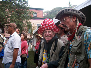Mushroom people are fun! Gary Lincoff and Larry Evans at the Telluride Mushroom Festival. They're obviously having a terrific time. Photo by Anna McHugh.