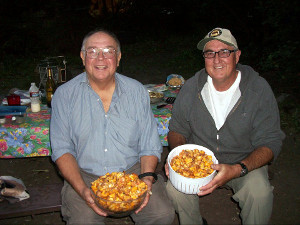 Curt and Alvaro with Colorado chanterelles